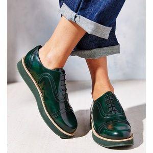 Camper green platform shoes size 8.5